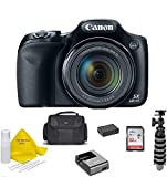 Canon Powershot SX530 HS 16MP Wi-Fi Super-Zoom Digital Camera 50x Optical Zoom +Accessory Bundle + TopKnotch Deals Cloth (International Model)