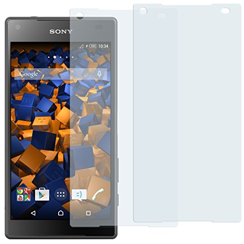 mumbi Schutzfolie kompatibel mit Sony Xperia Z5 Compact Folie klar, Bildschirmschutzfolie (2X)