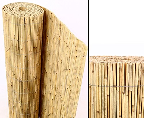 Bambus-Discount Schilfrohrmatte Premium, 180 x 300cm Sichtschutzmatte von Bambus-Discount Schilfmatten