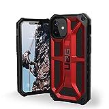 Urban Armor Gear Monarch Funda Apple iPhone 12 Mini (5,4') [Protección de 5 Capas el estándar Militar, Compatible Carga inalámbrica, Resistente a los choques] Rojo (Crimson)