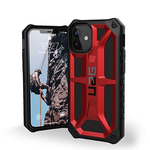 Urban Armor Gear UAG iPhone 12 Mini 5G - (5.4 inch) Rugged Lightweight Slim Shockproof Premium Monarch Protective Cover, Crimson, 112341119494