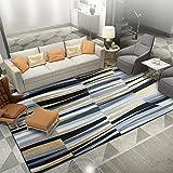 Alfombras Sofas de Salon alfombras Alfombra de Sala de Estar de diseño de Rayas geométricas abstractas Gris Negro Amarillo aspiradora Alfombra alfombras para Cocina 140*200cm