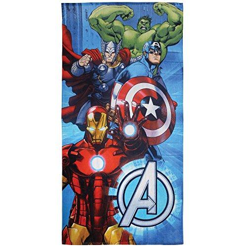 CTI 044252–Toalla de Playa Avengers Metal algodón Azul 360g/m² 150x 75cm