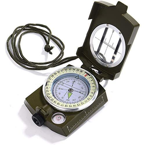 Professional Multifunctionele Kompas, Waterdichte Hoge Nauwkeurigheid Kompas Met Inclinometer En Waterpas Voor Wandelen, Klimmen, Varen