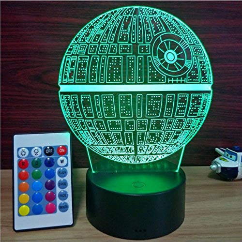 Multiple Star Wars Death Star LED 3D night lights Creative Ambient Light Desk lamp Home Lighting Bulbing Color change Lamp,A