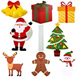 URATOT 8 Pack Christmas Yard Sign with Stakes Christmas Holiday Decorations Winter Yard Decorations Corrugate Outdoor Lawn Decorations