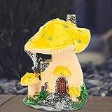 Escultura de la casa de la Seta de Resina Realista y Hermosa ecológica para el Patio del jardín del césped