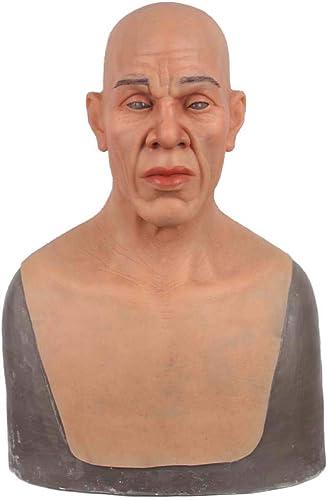 más orden LPVIE Máscara Realista del Viejo Hombre, mascarilla del del del simulador del Casco del silicón para el Partido del Camuflaje de Halloween Cosplay Desgaste cómodo,marrón  promociones