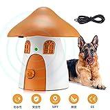 無駄吠え防止デバイス、屋外、2020年の新・超音波バークコントローラー、USB充電可能、4レベルの感度調整、50フィートの範囲、音波による犬の無駄吠え防止装置、小型犬、中型犬、大型犬のしつけ用