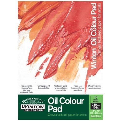 Winsor & Newton Ölfarben-Pad, 10 Blatt Ölpapier mit Leinwandtextur, 230g/m² - 35,5 x 25,5 cm