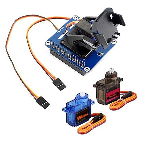 MakerFocus Raspberry Pi 4B Servo Motor Controller PWM Kit, 2-DOF Pan-Tilt HAT for RPi Light Intensity Sensing Control Camera Movement I2C, Onboard PCA9685 Chip Compatible with RPi 3B+ 3B Jetson Nano
