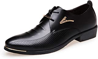 Dongxiong Increase the trend of leisure in the autumn of pointed British men's shoes groom's wedding shoes (Color : Black, Size : 47 EU)