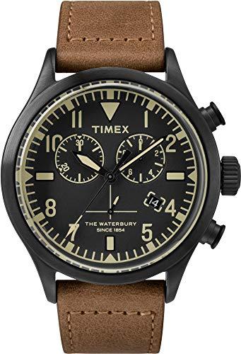 Timex Todd Snyder Waterbury Chrono 42mm Negro/Marrón Talla Única