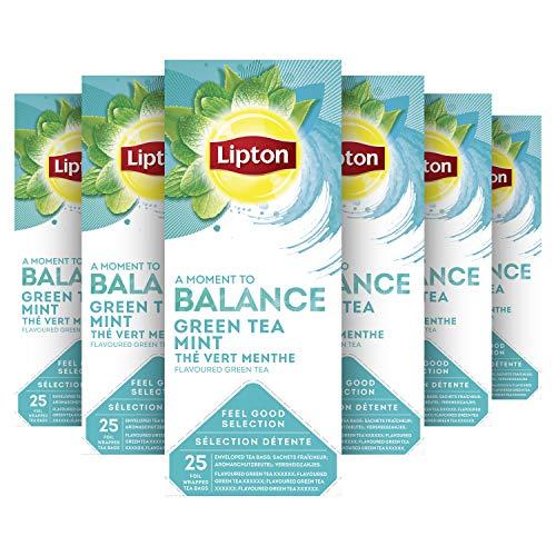 Lipton Feel Good Selection Groene Thee Munt 6 x 25 zakjes Voordeelverpakking