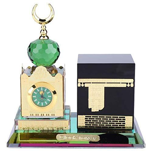 Taidda- Forniture Musulmane, Orologio con Forniture Musulmane Trama Unica Delicata Torre Modello Kaaba architettura Islamica Artigianato Souvenir Decorazione del Desktop per la casa del Libro