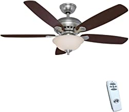 Hampton Bay 52379 Southwind 52 in. LED Indoor Brushed Nickel Ceiling Fan with Light Kit and Remote Control