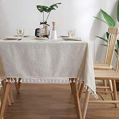 Lahome Soild Tassel Tablecloth