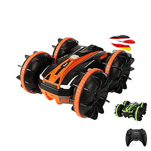 2in1 RC ferngesteuertes Fahrzeug für Wasser und Land, Amphibien-Modell, Stunt-Auto, Crawler-Car inkl. 2.4GHz Fernstuerung, Akku und Ladekabel, Komplett-Set