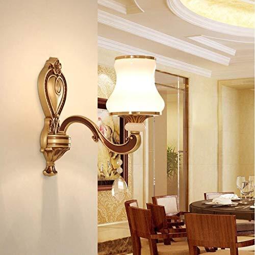 DFQX Westinghouse Iluminación Cristal Europeo Aleación de Zinc Atmosférica Sala de Estar Pasillo Dormitorio Lámpara romántica de Noche