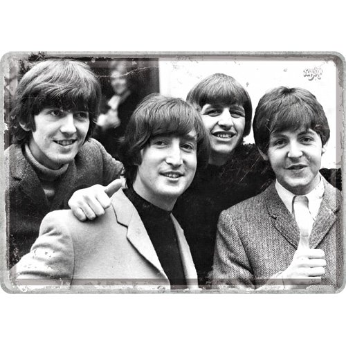 Nostalgic-Art 10303, Celebrities The Beatles-Photo, Blechpostkarte 10x14 cm, Metall, bunt, 10 x 14 x 0.2 cm