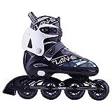 XIUWOUG Herren Damen Inliner Inlineskates | 82A Rollen | ABEC-7 Chrome Kugellager | Unisex Fitness Skates für Erwachsene,Silber,XL (42~45)