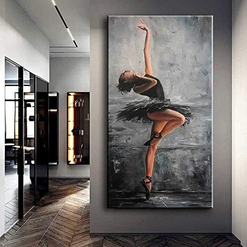 TANXM Leinwand Bedrucken 70x140CM Kein Rahmen Elegante Figur Kunst Balletttänzer Moderne Wandbilder Für Wohnzimmer Home Decor