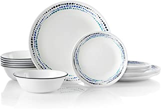Corelle 18-Piece Service for 6, Chip Resistant, Ocean Blues Dinnerware Set