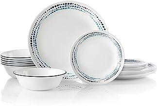 Corelle Classic Dinnerware Set, 18 Piece Set, Ocean Blues