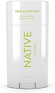 Native Deodorant - Natural Deodorant - Vegan, Gluten Free, Cruelty Free - Free of Aluminum, Parabens & Sulfates - Born in the USA - Pear & Lavender