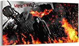 Leinwanddruck, Motiv Batman Joker Heath Ledger, Panorama, 2