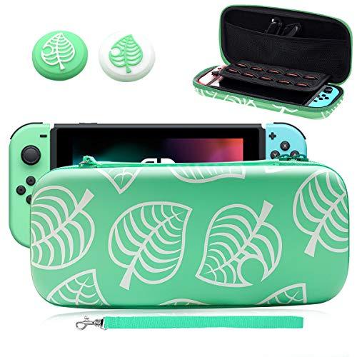 Funda Protectora para Nintendo Switch, Animal New Horizons Cubierta para Switch Accesorios, Viaje rígida Case almacenamiento...