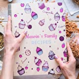 Wooden Blank Recipe Book Binder - Personalized Recipe Notebook with printings - Family Cookbook Journal Custom Sketchbook To Write In Organizer by Enjoy The Wood