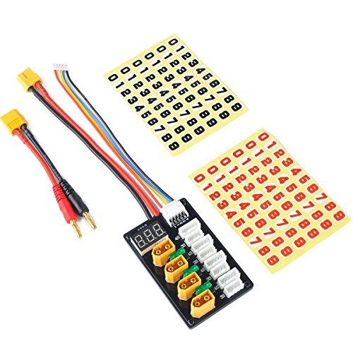 Tarjeta de carga paralela XT60 para baterías LiPo 3S 4S Conector XT60 con cable de conexión XT60 a banana