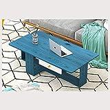 WINON Mesa de Centro Mesa de café Simple Creativo Moderno nórdico pequeño café Tabla Inicio Tabla de té de la Sala Multifuncional Tabla Fin Mesa de Café (Color : Blue)