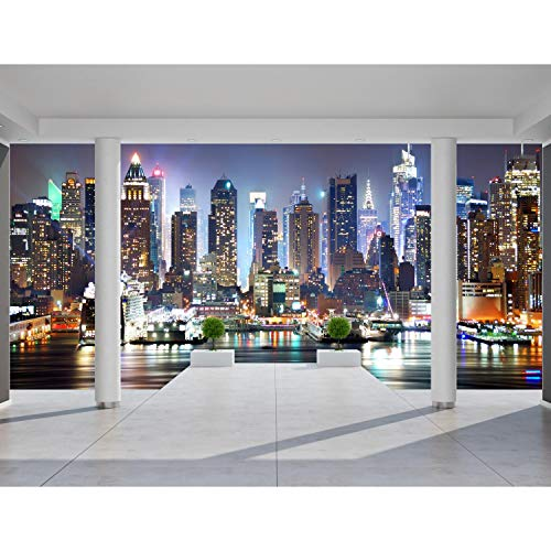 Fototapete Architektur New York Vlies Wand Tapete Wohnzimmer Schlafzimmer Büro Flur Dekoration Wandbilder XXL Moderne Wanddeko - 100% MADE IN GERMANY - NY Stadt City Runa Tapeten 9204010c
