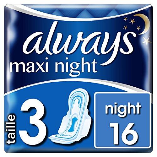 Always Maxi Night T3 Serviettes Hygiéniques 16...