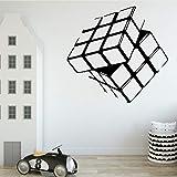 Tianpengyuanshuai Cubo de Rubik diseño Creativo Sala de Estar Fondo Pegatina de Pared Vinilo extraíble decoración del hogar 87X82cm