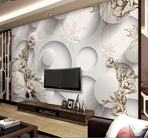 Grote Aangepaste Behang Retro Lijn Tekening Magnolia Esdoorn Leaf Woonkamer 3D Tv Achtergrond Huis Meubels 150×105cm