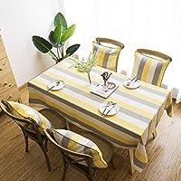 厚手 テーブルクロス 綿,クリスマス テーブルクロス ,テーブルクロス 撥水,に適しています コーヒーテーブル、会議用テーブル (Color : Yellow, Size : 135*220CM)