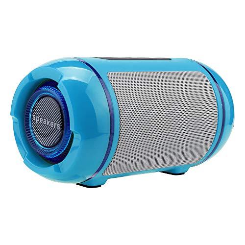 qiyanPortable Altavoz Bluetooth portátil Altavoz inalámbrico Sistema de Sonido 10w Música estéreo Envolvente Impermeable al Aire libreubwoofer Azul