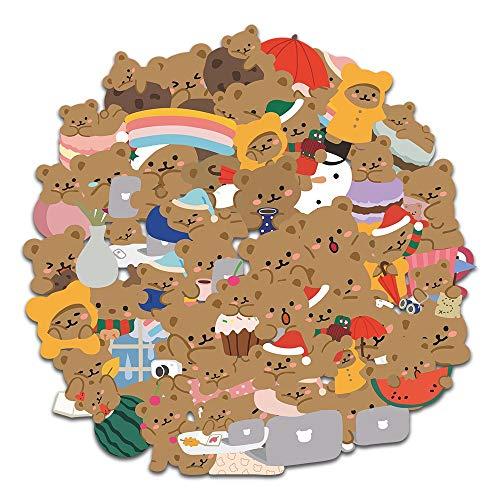 10 / 60Pcs / Set Cute Cartoon Little Bear Hand Account Adesivi per Laptop Phone Bagaglio Decorazione Decalcomania adesivo cancelleria Coreana
