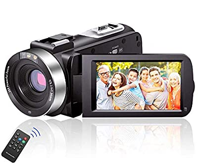 Video Camera Camcorder Full HD 1080P 30FPS 24.0 MP IR Night Vision Vlogging Camera Recorder 16X Zoom Camcorders YouTube Camera with 2 Batteries from LINNSE