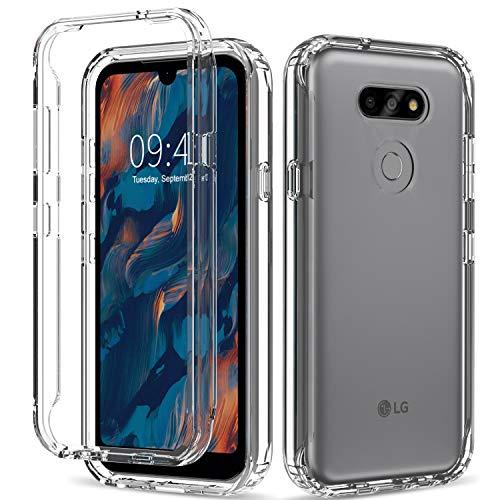 Funda para LG K31, LG Aristo 5, Rossy transparente con diseño de patrón, cuerpo completo, a prueba de golpes, doble capa protectora de TPU suave para LG K31