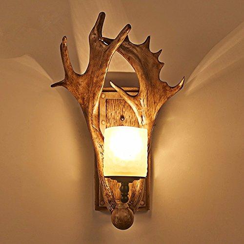 YU-K Escaliers bois appliques appliques décoratives balcon E27 Lampe de chevet personnalité rétro nostalgie de l'allée 34 * 45CM