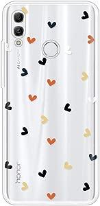Miagon Clear Case for Huawei Smart 2019 Creative Cute Design Slim Soft Flexible TPU Back Cover Phone Case Colorful Heart