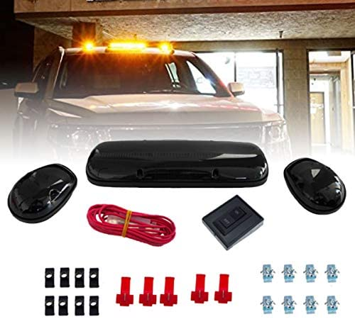 LED Cab Roof Top Marker Running Lamps for Truck Pickup 4x4 SUV Smoked Emergency Hazard Warning product image