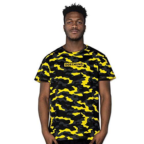Borussia Dortmund T-Shirt CAMO gelb, 19222800 (L)