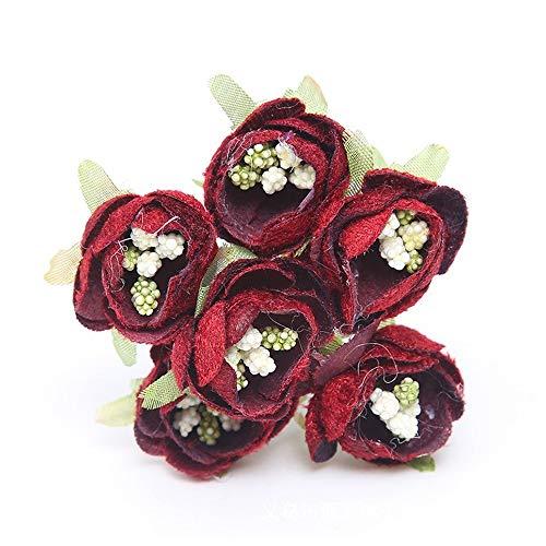 CGS2 Simulatie boeket flanel kleine roos boeket touch bruiloft boeket huisdecoratie slinger accessoires ambacht kan worden aangepast,2Bunch Home decoratie