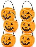 Vegaoo - Lotto di 6 secchi zucche Halloween -...