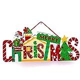 NiceButy Decoraciones de Navidad Decoraciones para el hogar, el árbol de Navidad Decorado o Decoraciones Colgantes de Puertas (Santa Claus) decoración de la Muestra Que cuelga